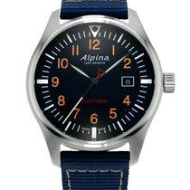 Alpina Startimer Pilot Steel 42mm Black Arabic numerals