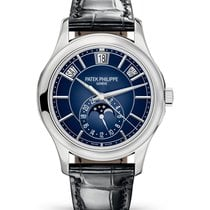 Patek Philippe Annual Calendar White gold 40mm Blue No numerals