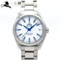 Omega Titanium Automatic White 39mm pre-owned Seamaster Aqua Terra