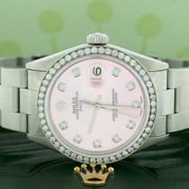 Rolex Oyster Perpetual Date Staal 34mm Roze