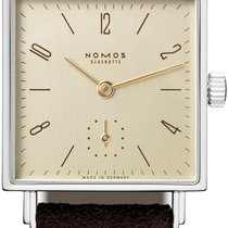 NOMOS Tetra 27 Steel 27,5mm Gold Arabic numerals
