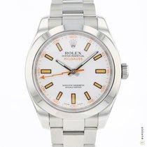 Rolex Milgauss Steel 40mm White