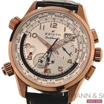 Zenith Or rouge Remontage automatique Blanc Arabes 45mm occasion El Primero Doublematic