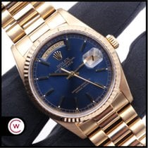Rolex Day-Date 36 Oro amarillo 36mm Azul Sin cifras España, Asturias