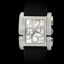 Milus Apiana Stainless Steel and Pave Diamonds Chronograph