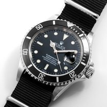 Rolex SS 40mm Submariner Black Dial Textile NATO Strap 16610...
