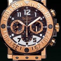Paul Picot C-TYPE titanium chronograph rubber black dial gold...