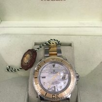 Rolex Two-Tone Yachtmaster I w/ 8 Diamond Mother of Pearl Dial