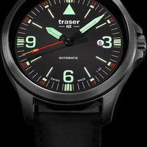 Traser Acél 45mm Automata P67 Officer Pro Automatic Black új
