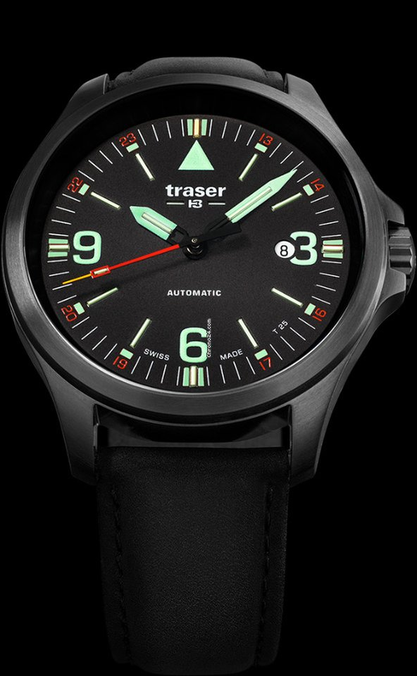 Traser P67 Officer Pro Automatic Black Swiss Made for  770 for sale from a  Trusted Seller on Chrono24 e8660604f57