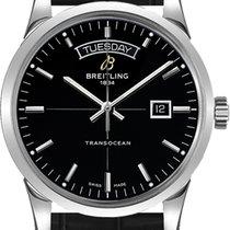 Breitling Transocean Day & Date Stahl 43mm Schwarz Keine Ziffern Deutschland
