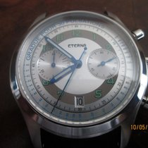 Eterna Chronograph 42mm Automatic 2011 pre-owned Heritage Pulsometer Silver