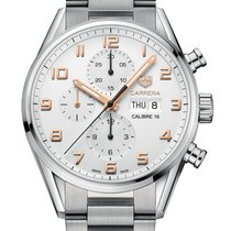 TAG Heuer Carrera Calibre 16 Steel 43mm Silver Arabic numerals United Kingdom, London