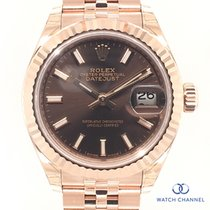 Rolex new Automatic Screw-Down Crown 28mm Rose gold Sapphire Glass