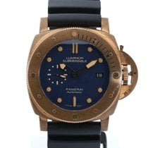 Panerai Bronze Automatic Blue No numerals 47mm pre-owned Luminor Submersible