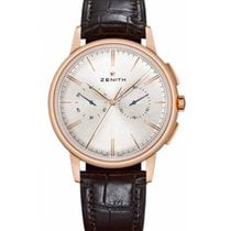 Zenith Elite Chronograph Classic Rose gold 42mm Silver No numerals