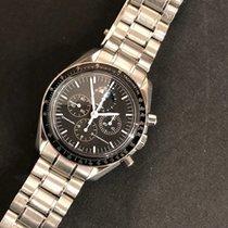 Omega Speedmaster Professional Moonwatch Moonphase Steel 42mm Black No numerals