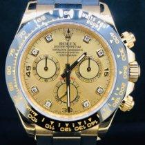 Rolex Daytona Or jaune 40mm Champagne Sans chiffres Belgique, Antwerpen