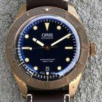 Oris Carl Brashear pre-owned 42mm Blue Date Leather
