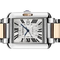 Cartier Tank Anglaise Goud/Staal 39.2mm Zilver