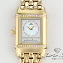 Jaeger-LeCoultre Reverso Duetto Yellow gold 21mm Mother of pearl Arabic numerals