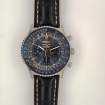 Breitling Navitimer 01 pre-owned 46mm Grey Chronograph Leather