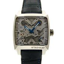 TAG Heuer Monaco V4 Platinum 39mm Silver No numerals