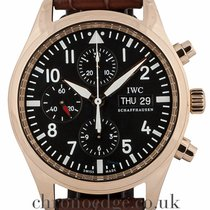 IWC Pilot Chronograph Red gold 42mm Black Arabic numerals United Kingdom, Wilmslow