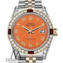 Rolex Lady-Datejust Gold/Steel 26mm Orange Roman numerals United States of America, New York, New York