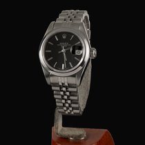 Rolex Oyster Perpetual Lady Date usados 26mm Negro Fecha Acero