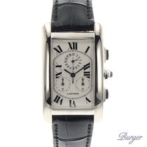 Cartier Tank Americaine Chronoflex White Gold