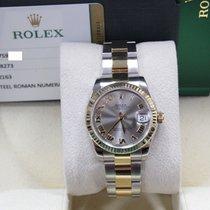 Rolex Datejust Midsize  31mm 178273 Silver Roman 18K Gold & Steel