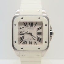 Cartier Santos 100 White Rubber