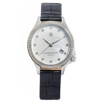 Lancaster Italy Goccia Watch Mother of Pearl Dial - Swarovski...