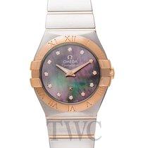 Omega Or rose Quartz Nacre 27mm nouveau Constellation Quartz