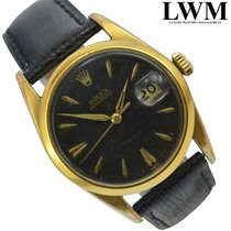 Rolex Oyster Date 6694 Precision gilt black dial Gold Plated