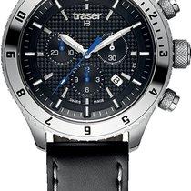 Traser Acier 46mm Quartz T5 Master Chronograph Qz mens watch nouveau