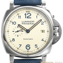 Panerai Luminor Due Acero 42mm Blanco Árabes
