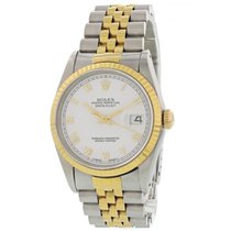 Rolex Datejust pre-owned 36mm White Date Steel