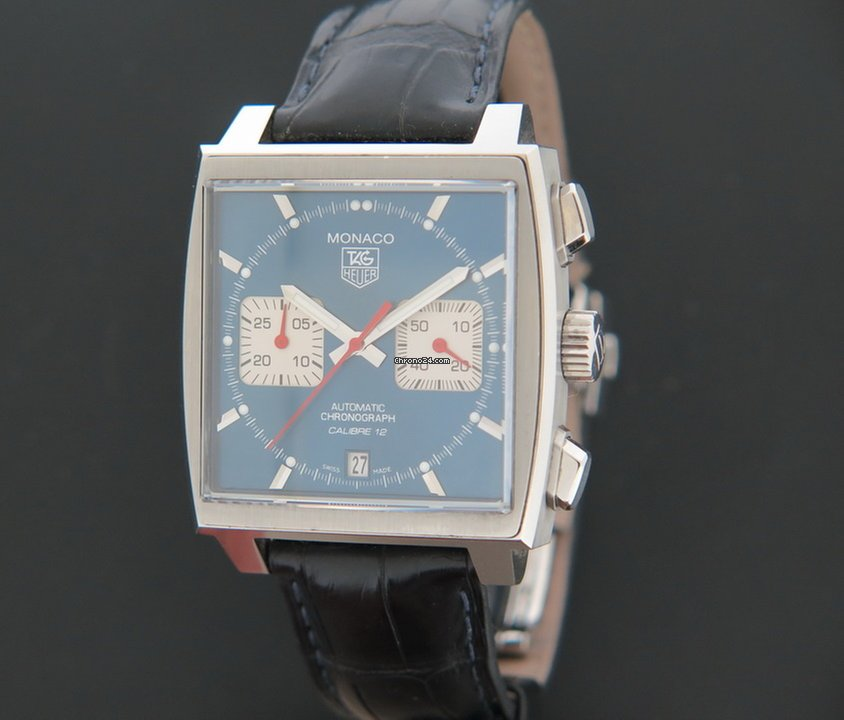 tag heuer monaco steve mcqueen blue dial caw2111 0 for. Black Bedroom Furniture Sets. Home Design Ideas