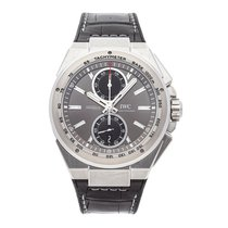 IWC Steel Automatic Grey No numerals 45mm pre-owned Ingenieur Chronograph Racer