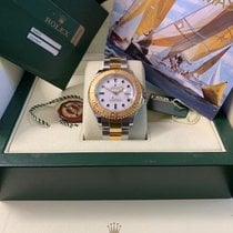 Rolex Yacht-Master 40 Zlato/Zeljezo 40mm Bjel Bez brojeva