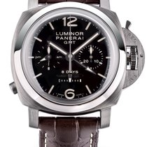 Panerai Luminor 1950 8 Days Chrono Monopulsante GMT Steel 44mm Brown