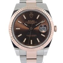 Rolex Datejust Gold/Steel 41mm Brown