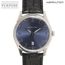 Hamilton Jazzmaster Thinline pre-owned 42mm Blue Leather