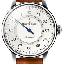 Meistersinger Perigraph - 43mm - Silver Dial am 1001
