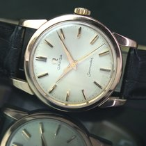 Omega Seamaster Winding Gold Cap Steel Mens Watch