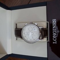 Longines Column-Wheel Chronograph Acier 39mm Blanc Arabes France, Paris