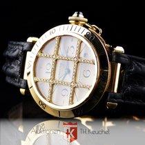 Cartier Pasha 38 mm Gold 18K Diamond Grid Faltschliesse...