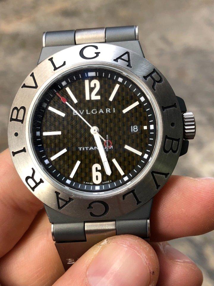 2612674f8a84 Bulgari Titanium Diagono Automatic TI 44 TA
